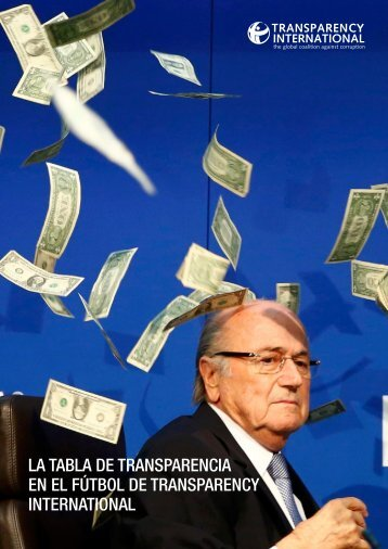 EN EL FúTBOL DE TRANSPARENCY INTERNATIONAL