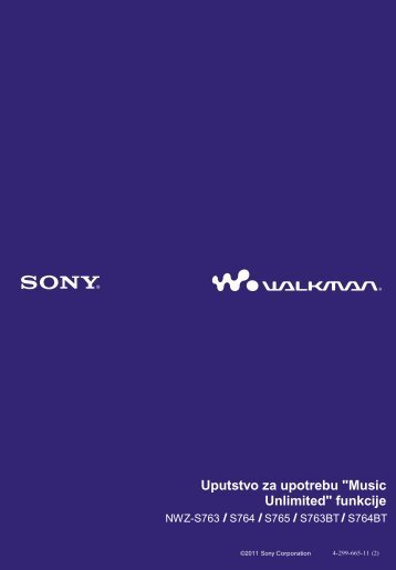 Sony NWZ-S764BT - NWZ-S764BT Guida di configurazione rapid Serbo
