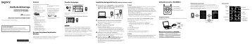 Sony NWZ-S764BT - NWZ-S764BT Guida di configurazione rapid Francese