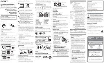 Sony NWZ-W263 - NWZ-W263 Guida di configurazione rapid Slovacco