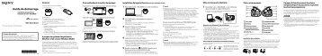 Sony NWZ-W263 - NWZ-W263 Guida di configurazione rapid Francese