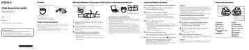 Sony NWZ-W273 - NWZ-W273 Guida di configurazione rapid Rumeno