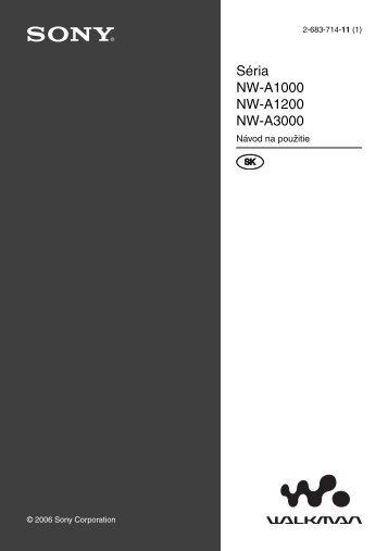 Sony NW-A1000 - NW-A1000 Istruzioni per l'uso Slovacco