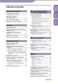 Sony NWZ-B142F - NWZ-B142F Istruzioni per l'uso Spagnolo - Page 3