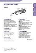 Sony NWZ-B142F - NWZ-B142F Istruzioni per l'uso Slovacco - Page 5