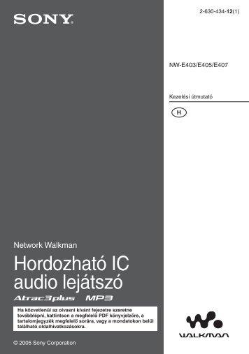 Sony NW-E403 - NW-E403 Istruzioni per l'uso Ungherese
