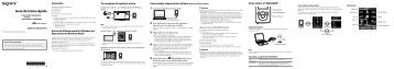 Sony NWZ-E374 - NWZ-E374 Guida di configurazione rapid Spagnolo
