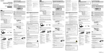 Sony NWZ-B142F - NWZ-B142F Istruzioni per l'uso Inglese