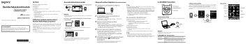 Sony NWZ-E374 - NWZ-E374 Guida di configurazione rapid Ungherese