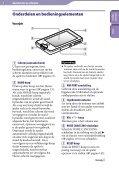 Sony NWZ-X1060 - NWZ-X1060 Istruzioni per l'uso Olandese - Page 6