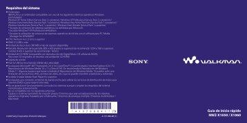 Sony NWZ-X1060 - NWZ-X1060 Istruzioni per l'uso Spagnolo
