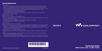 Sony NWZ-X1060 - NWZ-X1060 Istruzioni per l'uso Inglese