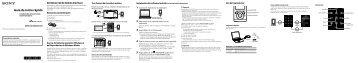 Sony NWZ-E454 - NWZ-E454 Guida di configurazione rapid Spagnolo
