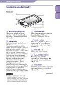 Sony NWZ-X1060 - NWZ-X1060 Istruzioni per l'uso Ceco - Page 6