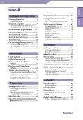 Sony NWZ-X1060 - NWZ-X1060 Istruzioni per l'uso Svedese - Page 3
