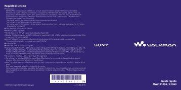 Sony NWZ-X1060 - NWZ-X1060 Istruzioni per l'uso Italiano