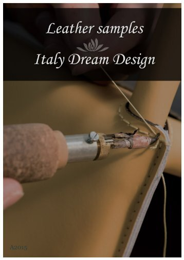 Leather samples A2015 - Italy Dream Design