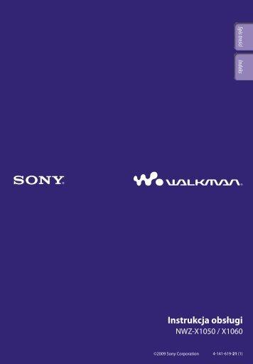 Sony NWZ-X1060 - NWZ-X1060 Istruzioni per l'uso Polacco