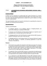 Cab 19 Nov 2015 Item 08 Loughborough Business Improvement District - Second Term