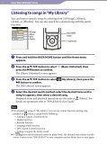Sony NWZ-E465 - NWZ-E465 Istruzioni per l'uso Inglese - Page 7