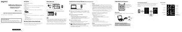 Sony NWZ-E465 - NWZ-E465 Guida di configurazione rapid Turco