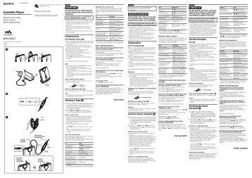 Sony WM-EX921 - WM-EX921 Istruzioni per l'uso Francese