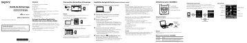 Sony NWZ-E373 - NWZ-E373 Guida di configurazione rapid Francese