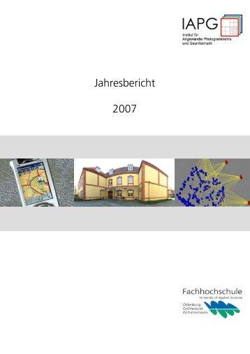 Jahresbericht 2007 - IAPG