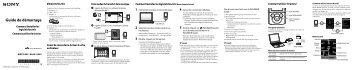 Sony NWZ-E443 - NWZ-E443 Istruzioni per l'uso Francese