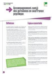 Accompagnement santé des personnes en souffrance psychique