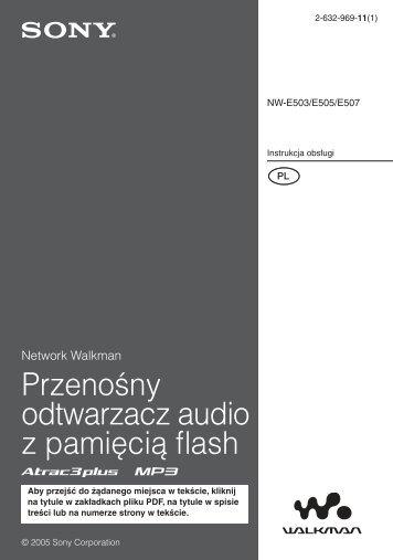 Sony NW-E503 - NW-E503 Istruzioni per l'uso Polacco