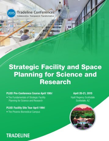 Strategic Facility and Space Planning for Science and Research