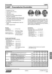 8 139PP Pneumatischer Druckmittler - FOXBORO ECKARDT GmbH