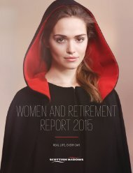 WOMEN AND RETIREMENT REPORT 2015
