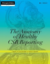 The Anatomy of Healthy CSR Reporting