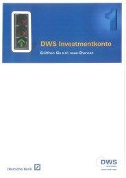 Deutsche Bank [ZI DWS - FPM-AG