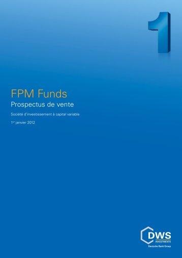 Prospectus de vente FPM Funds - FPM-AG