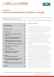 Fossil Fuel Subsidy Reform From Rhetoric to Reality