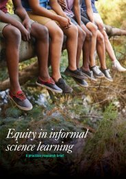 Equity in informal science learning