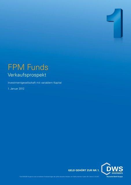 Verkaufsprospekt - FPM-AG