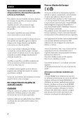 Sony SA-NS510 - SA-NS510 Istruzioni per l'uso Portoghese - Page 2