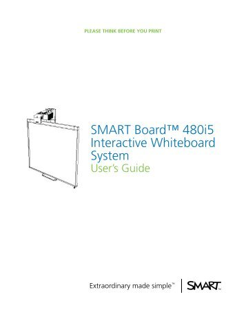 smart board 600 and d600 series interactive whiteboard rh yumpu com