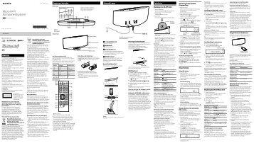 Sony CMT-V75BTiP - CMT-V75BTIP Istruzioni per l'uso Danese
