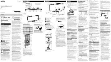 Sony CMT-V75BTiP - CMT-V75BTIP Istruzioni per l'uso Finlandese