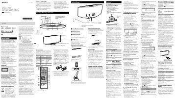 Sony CMT-V75BTiP - CMT-V75BTIP Istruzioni per l'uso Olandese