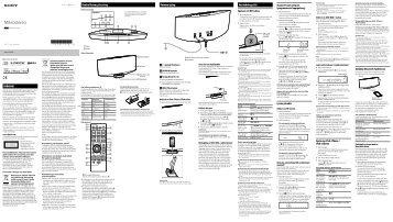 Sony CMT-V75BTiP - CMT-V75BTIP Istruzioni per l'uso Svedese