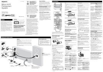 Sony CMT-BX77DBI - CMT-BX77DBI Istruzioni per l'uso Inglese