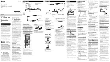 Sony CMT-V75BTiP - CMT-V75BTIP Istruzioni per l'uso Inglese
