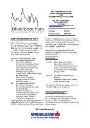 Rundschreiben Juni 2006 - Hak Horn