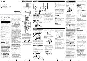 Sony CMT-CX5iP - CMT-CX5IP Istruzioni per l'uso Olandese